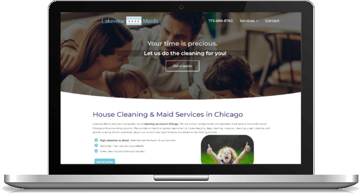 website design for cleaning