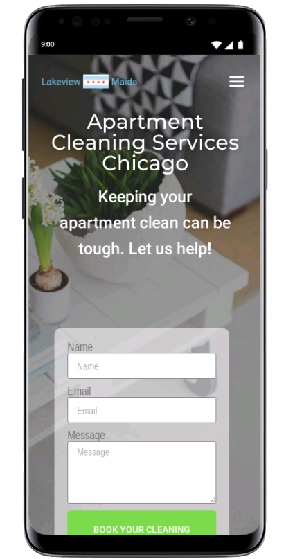 cleaning website mobile