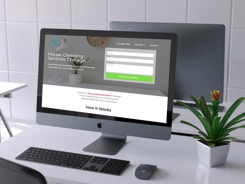 maid service website design