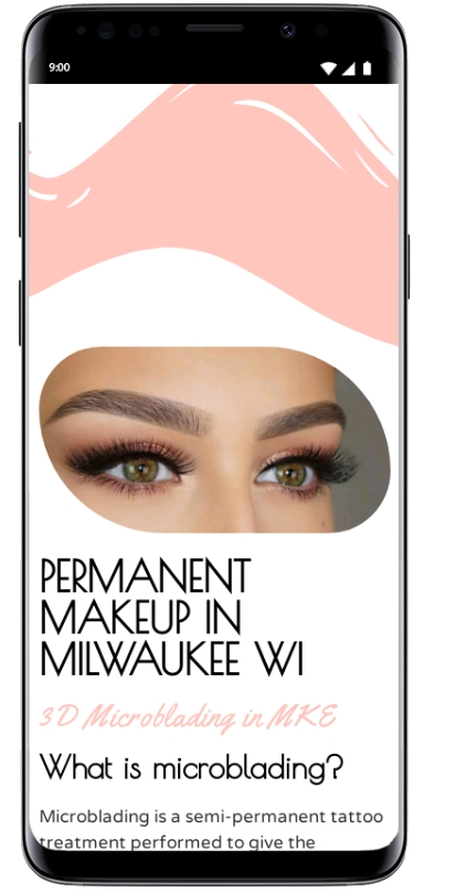 microblading mobile website