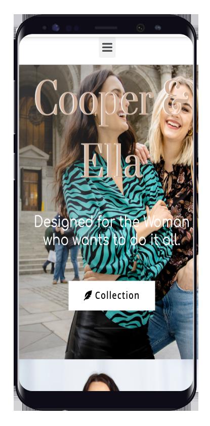 fashion website design mobile