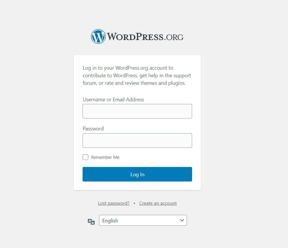 wp admin page