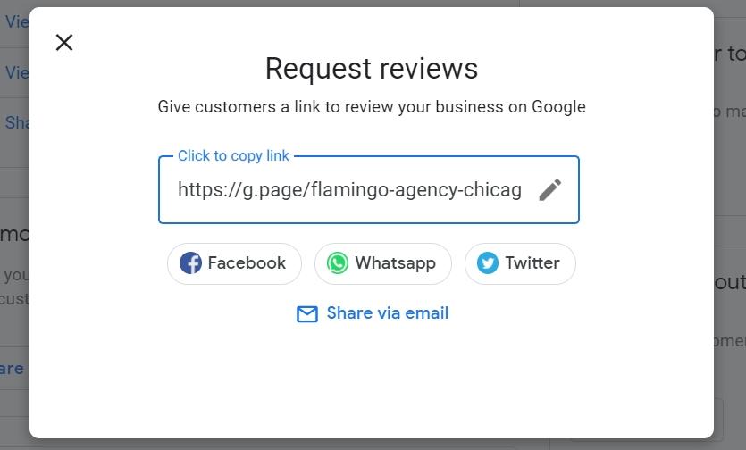 request reviews form
