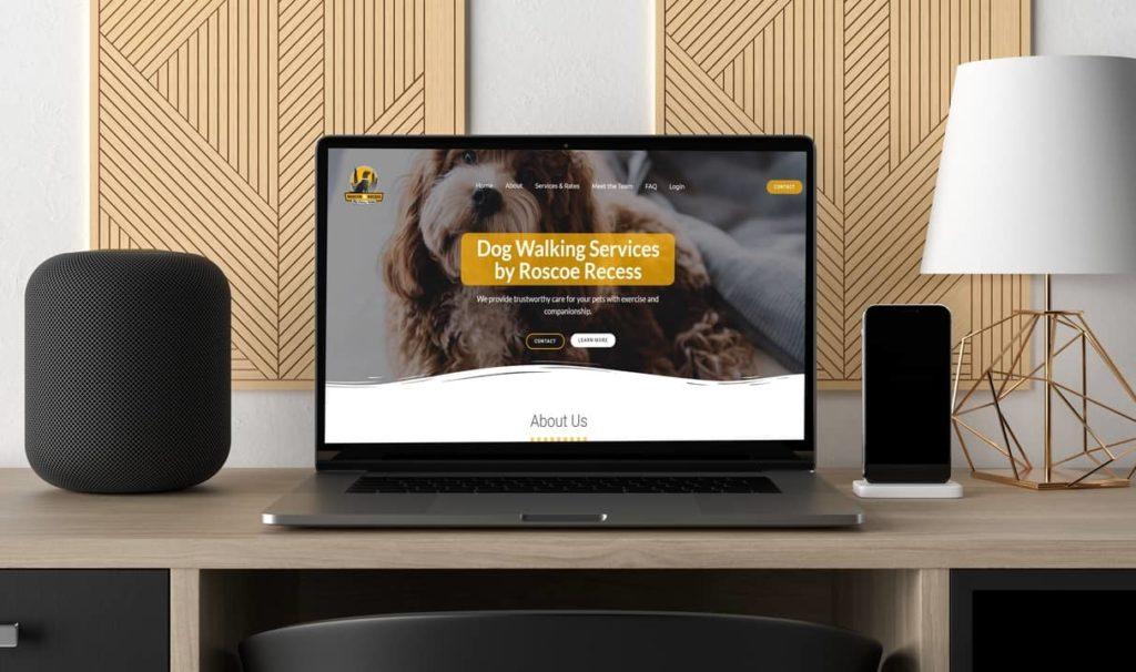 roscoe recess dog walking website design